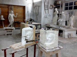 Artist studio Jaksic gallery island Brac